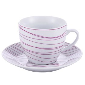 Kaffeeservice/Teeservice 8 tlg. rosa Muster
